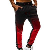 Pantalón Deportivo para Hombre SUNNSEAN Casual Holgados Sueltos Moda  Colores Mezclados Cuerda Pants Leggings de Fitness a2724f04c23f