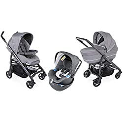 Chicco - Trio Love Up Bebecare, Poussette Combinée 3 en 1, Cool Grey