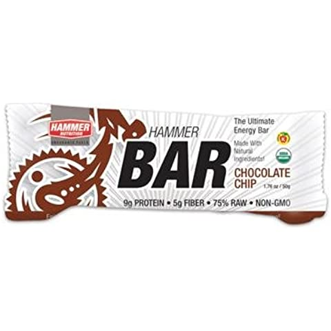 Hammer Nutrition Hammer Bar Chocolate Chip, 12 Count - Men's by Hammer (Mens Chip & Pepper)