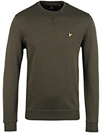 Lyle & Scott Dark Sage Jersey Crew Neck Sweatshirt