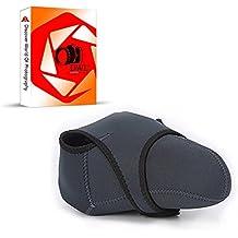 DWL® - Custodia protettiva in neoprene reversibile 2lati nero/grigio per Nikon D3000, D3100, D3200, D3300, D5000, D5100, D5200, D5300, D5500, D7000, D40, D40x, D50, D60, D70, D70s, D80, D90, D100, D200, D300, D600, D700D800e e D800fotocamere digitali con obiettivo zoom standard, lenti da 18-135mm, 18-200mm, 55-250mm
