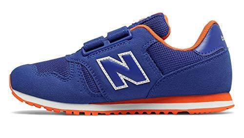 New Balance Unisex-Kinder 373 Sneaker, Blau (Team Royal/Varsity Orange BO Black), 35 EU