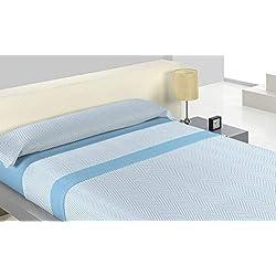 Juego de Sábanas Pirineo Kilan Azul cama 90