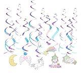 MAFENT magische Einhorn-Dekorationen, glitzerndes Einhorn, Regenbogen-süße Träume Einhorn, zum Aufhängen, Dekoration für Mädchenzimmer, Einhorn, Party-Zubehör für Babyparty-Dekorationen