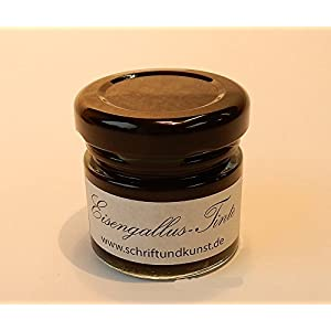 30 ml feinste Kalligraphietinte / Eisengallustinte im Schraubglas