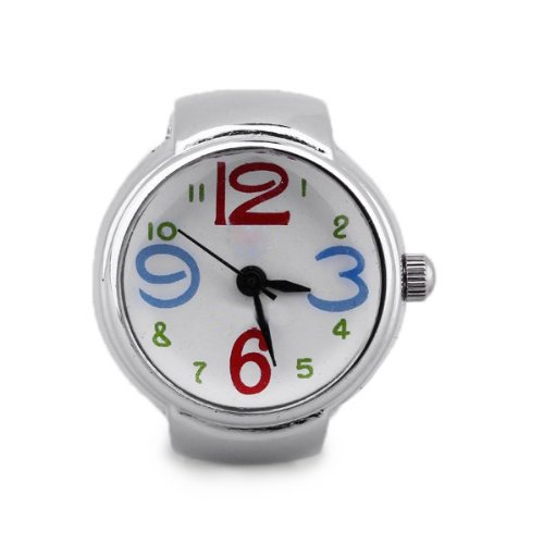 Gleader Reloj Anillo Cuarzo Metal Esfera Redonda Color