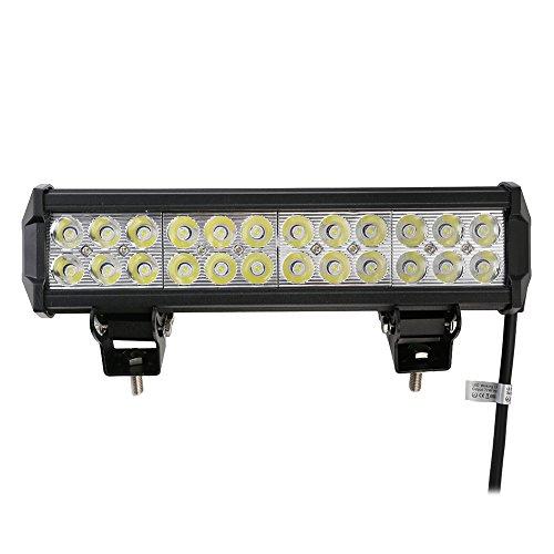 Preisvergleich Produktbild 72W 12V-24V DC 7550LM 6000-6500K Kaltweiß IP67 Wasserdich Auto scheinwerfer LED Arbeitsscheinwerfer Arbeitslicht Flood Light für Offroad SUV UTV ATV Traktor Bagger