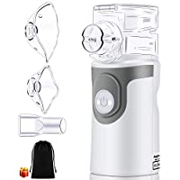 Inhalator Vernebler, kungfuren Tragbar Vernebler Set für Kinder Erwachsene Babys Inhalationsgeräte mit Mundstück und Maske Ultraschall Vernebler zur Inhalation bei Erkältungen oder Asthma