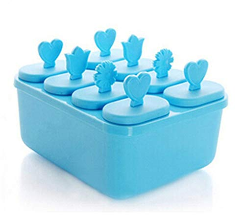 Makwes 8 Teile/Satz kaufen DIY Geschmack große getränke eiswürfel Pudding gelee Popsicle Form tablett Form, Geburtstag, Party, Weihnachten, Abendessen, imbiss größe 14,5 * 12 * 6 cm (blau)