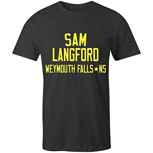 Sam Langford Boxing Legend Kids T-Shirt Black/Yellow