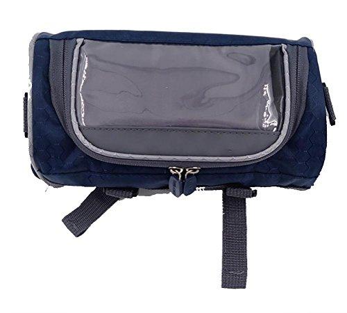 MASLEID Lenkertasche tragbar Wasserdichtes Bike Korb Touchscreen Handy-Tasche Rucksack blue 2