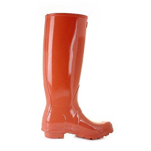 Hunter Original Tall Gloss Donna Stivali Arancione Arancione
