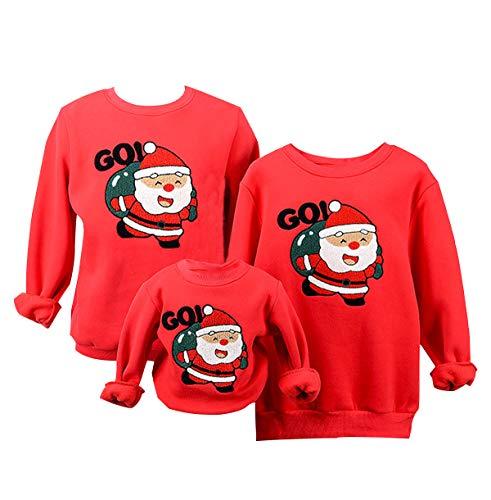 felpe natale famiglia felpa natalizia babbo maglione natalizio maglioni natalizi coppia divertenti maglie natalizie donna pullover girocollo uomo bambina bambini senza cappuccio invernali rosso