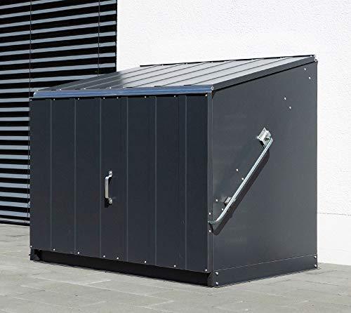 Trimetals Gerätebox, Aufbewahrungsbox, Multifunktionsbox, Fahrradbox Stowaway Anthrazit 138x89x113 cm (LxBxH); Multibox aus verzinktem Stahl - 2
