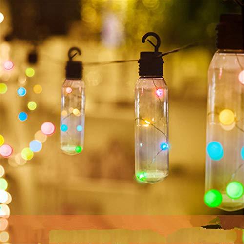 Im Freien Abdeckung (BARBEDINGROSE Led Lichterkette, Solarlicht Mit Kristallkugel-Abdeckung, Wasserdichte Innenleuchte Im Freien, Garten Garten Weihnachtsbaum Dekoration,Multicolored)