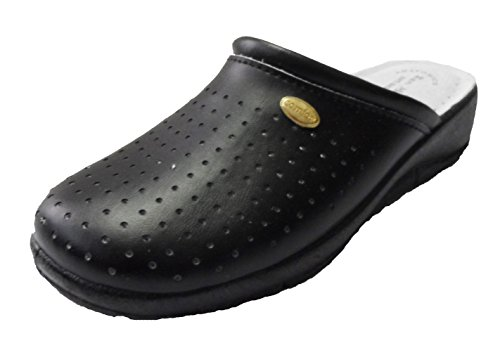 San Malo value Nursing Clogs with perforations - Black - Size 39