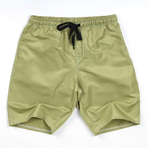 Xmiral Shorts Herren Badehose Einfarbig Lässig Sportlich Groß Strand Kurze Hosen Boxing Shorts Sweatshorts Sportshorts Chino-Hose(Armeegrün,6XL)