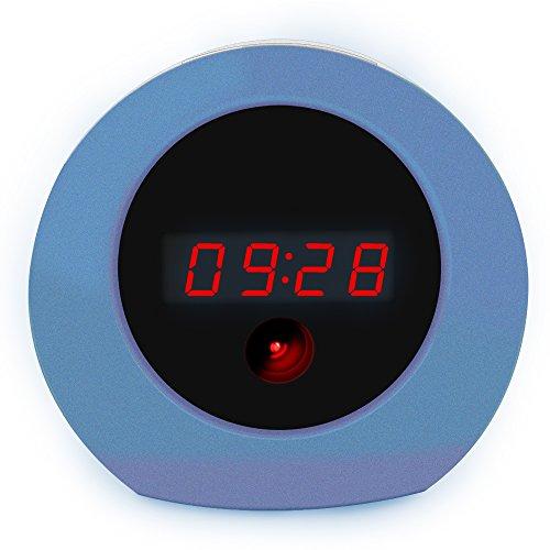 Aisoul Wifi Cámara Oculta Reloj - HD 1080p IP Cámara de Seguridad Interior Inalámbrica con App Video en Vivo, Detección de Movimiento y Batería Recargable, Cámara de Niñera y Cámara Espía
