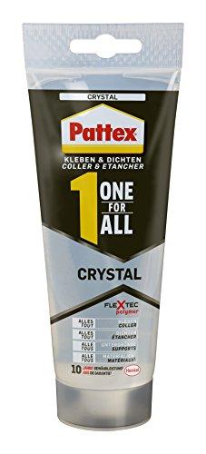 Pattex One for All Universal, Kombination aus Montagekleber und einer Fugendichtmasse, 216 g, 1 Stück, krystall, PXOC2
