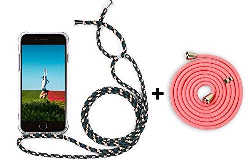 YuhooTech Handykette Kompatibel mit iPhone 5 / 5S / 5C, Smartphone Necklace Hülle mit Band - Handyhülle mit Kordel Umhängenband - Schnur mit Case zum umhängen (Iphone Geflochtener Ladegerät 5 Schnur Viel)