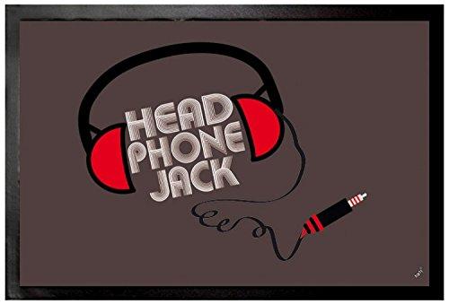 Felpudos Música Headphone Jack Felpudo Alfombrilla (60 x 40cm)