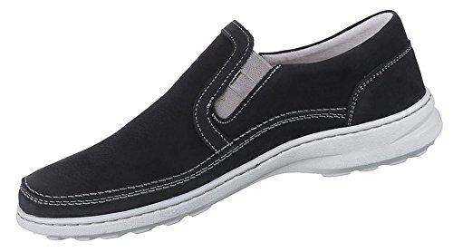 Herren Halbschuhe Schuhe Leder außen und innen Slipper Loafers Freizeitschuhe übergrößen schwarz weiss braun 41 42 43 44 45 46 47 Schwarz