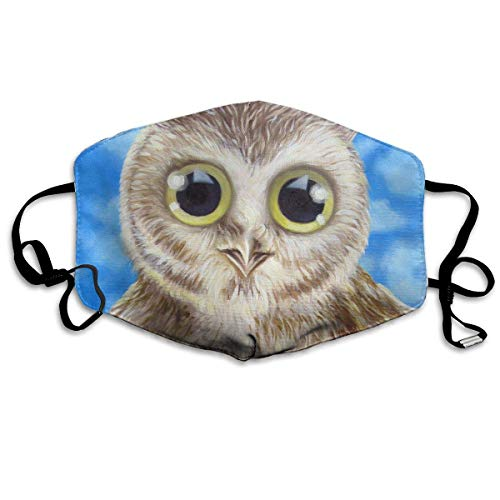 Masken, Masken für Erwachsene, Face Mask Reusable, Warm Windproof Mouth Mask, Owl Baby Art Reusable Anti Dust Face Mouth Cover Mask Protective Breath Healthy Safety
