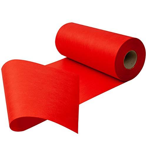 Tischläufer, Tischband, Rollenware aus stoffähnlichem Vlies (Farbe & Breite nach Wahl), Rot, 30cmx25m, ideal für jede Party, Catering, Vereinsfeier, Geburtstagsfeier