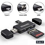 EXW Lecteur De Cartes SD/Micro SD Adaptateur USB Type C Version 2.0 Micro USB OTG et...