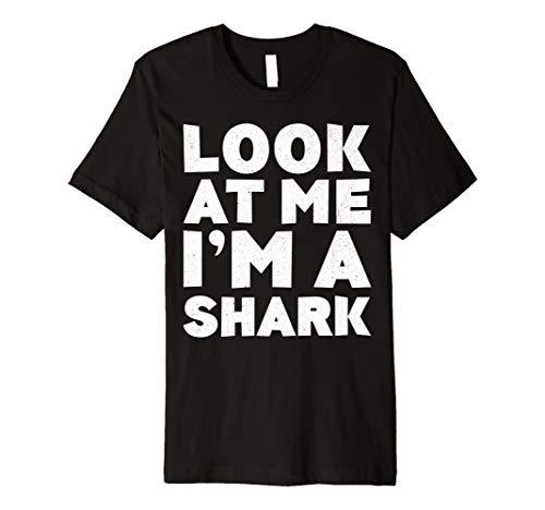 (Look at Me I 'm A Shark T-Shirt Halloween-Kostüm Shirt)