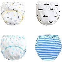 Fandecie Braguita Pañal Aprendizaje Pantalones de Entrenamiento para bebés Ropa Interior de Entrenamiento Orinal Pañales Pantalones de pañales para el Entrenamiento del baño Entrenamiento 5-36 Meses