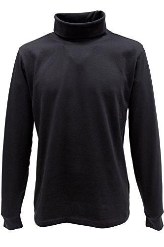 KITARO Rollkragen Pullover - 3 Farben - bis 8XL Schwarz