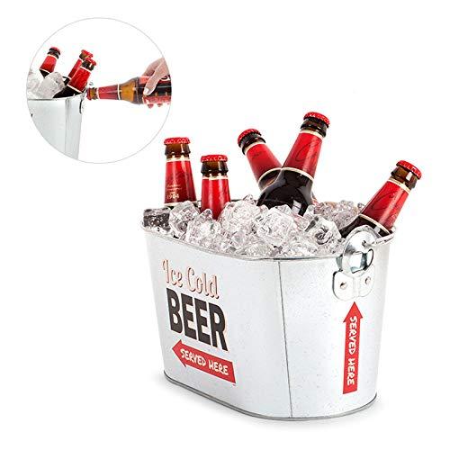 Monsterzeug Eimer zum Kühlen von Bier, zwei integrierte Flaschenöffner, Beer Bucket Bierkühler, Getränkekühler Eiseimer