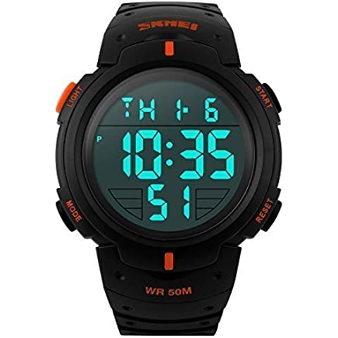 downj uomini LED orologio digitale militare 50 m Dive Nuoto Casual