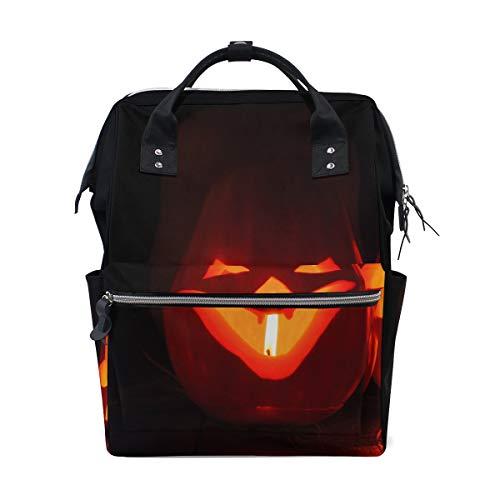 Geist Kürbisse auf Halloween große Kapazität Windel Taschen Mummy Rucksack Multi Funktionen Windel Pflege Tasche Tote Handtasche für Kinder Babypflege Reise tägliche Frauen