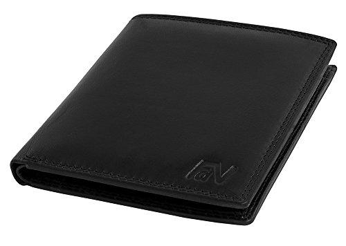Schlanke Echtleder Geldbörse besonders bequem weich einfach und effizient Easycomfort Hochkant #VO12