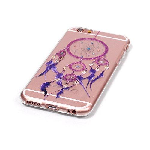 iPhone 6S plus Coque, Aeeque Butterfly Fantasy Violet Dessin Silicone Doux TPU Anti-rayures Protection Complète du Corps Case Cover Housse Etui pour iPhone 6 plus 6S plus 5.5 pouce Campanule Pourpre