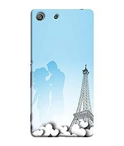 FUSON Designer Back Case Cover for Sony Xperia Z3 Compact :: Sony Xperia Z3 Mini (Eiffel Tower True Love Couples Kisses Sky )