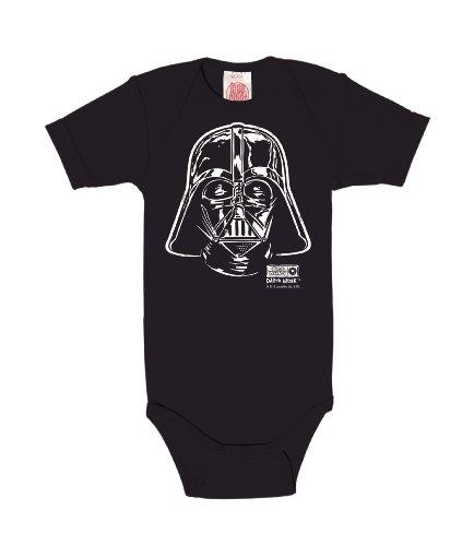 Logoshirt Star Wars - La Guerre des Étoiles - Dark Vador - Darth Vader Portrait Body pour bébé - Gigoteuse - Bleu foncé - Design Original sous Licence, Taille 62/68, 3-6 Mois