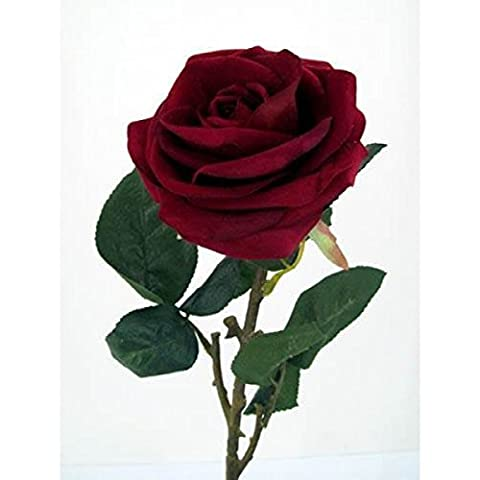 Velvet Red Rose 74 cm - Shik Premium Quality Artificial Flower as REAL ROSE by Shik Gifts