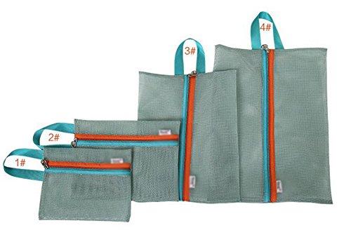 itemer Travel Taschen Gepäck Aufbewahrung Verpackung Staubbeutel Fall Netzbeutel Organisatoren Set von 4Größe, blau, 4 Size