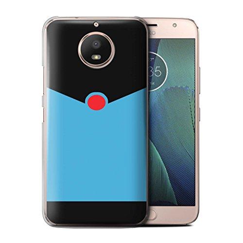 Stuff4® Hülle/Case für Motorola Moto E4 Plus 2017 / Retro Blauer Anzug Muster/Cartoon Superheld Kunst Kollektion (Anzug Haut Superhelden)