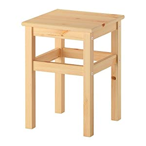 Ikea ODDVAR Holz Hocker stapelbar