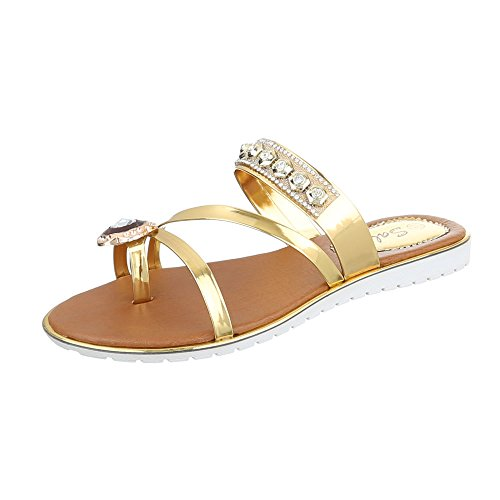 Ital-Design - Scarpe peep toe Donna Gold