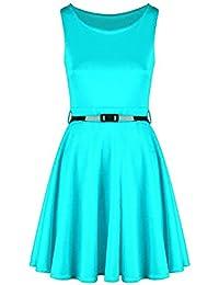 Generic Damen Skaterkleid Kleid mehrfarbig mehrfarbig 54