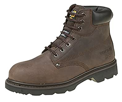Grafters Padded Safety Boot, marrone (Brown), 39 1/3 EU