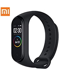 """Xiaomi Mi Band 4 Fitness Tracker, Newest 0.95"""" Color AMOLED Display Bluetooth 5.0 Smart Bracelet Heart Rate Monitor 50 Meters Waterproof Bracelet with 135mAh Battery up to 20 Days Activity Tracker"""