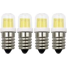 SES - Bombilla LED E14 de luz blanca fría 6000K 3W E14 30W rosca Edison pequeña