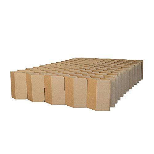 ROOM IN A BOX Bett 2.0 M/Braun: Klappbett aus Wellpappe 120 140 x 200 cm und Zwischengrößen. Auch als Gästebett. Lattenrost Nicht nötig. - Schwarz-braun-ecke-sofa