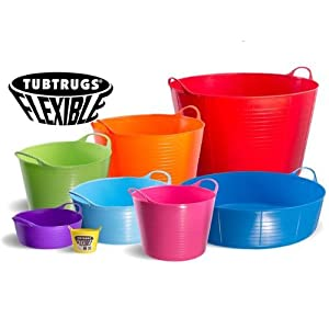Tubtrugs Flexible Shallow Buckets ALL SIZES AND COLOURS (Purple, Large Shallow 35 Litre)
